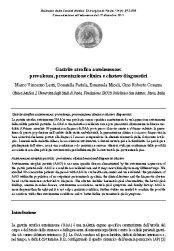 20140529_Cli_Medica_I_Uni_Studi_Policl_S_Matteo_Pavia_GCAA_preval_present_clinica_clusters_diagnostici